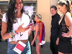 Experience shows that people who condemn public sex games are often happy to participate in them, or at least watch and nothing can embarrass them... Busty blonde Sienna Day, was humiliated in public, bound & fucked. Join and take a look!