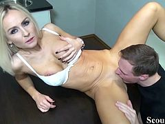 German Teen Blackmail to Fuck by Boss on Work in Office