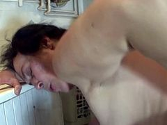 Mature cleaning lady fucked roughly