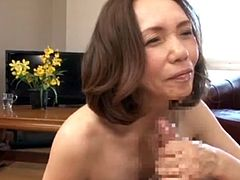 Asian Granny Ishihara Masae loves getting fucked
