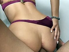 Amateur Fit Teen Deep Fucked in ALL 3 HOLES  HD