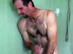 Apparently, when Scott was in prison, he jacked off every day, but always in the shower. He did this for so long it became the most comfortable and natural way for him to get off. To this day, he still does it that way. Enjoy his second session