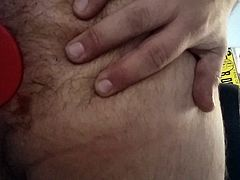 in chastity (holy trainer) and with my ass open by my anal p
