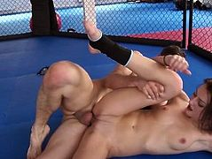 Ring wrestling sex fight, Part II