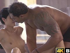 Tender young babes poolside pussy stretching interracial