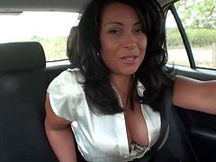 Danica Collins masturbating in the backseat