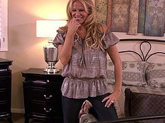 Kelly Madison enjoys taking off her clothes and teasing