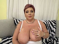 Want to join this hot and horny bbw mature? Her huge natural tits and wet pussy will instantly make your dick rock hard. Pull your cock out of your pants and stick it deep into her warm cunt. Join and have fun!
