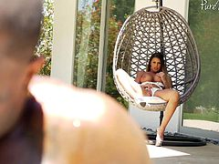 Lucky black guy gets to fuck Brooklyn Chase while her tits bounce