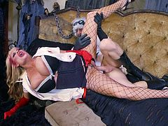Kinky plowing session with stunning blonde MILF Kelly Madison
