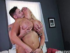 Curvaceous milf with massive boobs Alura Jenson getting fucked