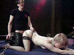 Kinky pervert ties up and fucks sex-appeal blond bitch Anna Tyler