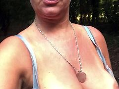 Great tits flashing my tits while walking in the woods