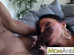 MILF mom Kendra Secrets gets superwet for black cock and rides it like a real freak
