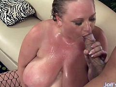 Horny BBW sits on the face of a bald guy and he enjoys it Then she takes his hard cock deep inside her plump pussy and gets fucked in many positions She sucks his dick too He cums in her mouth