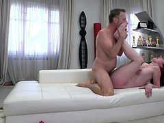 Naughty gal from Czech Republic Elena Vega is fucked by hot blooded Rocco