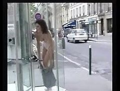 Outdoor Flashing In Paris strip naked in public