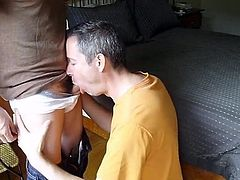 Guy sucks his buddy in different positions to get his facial