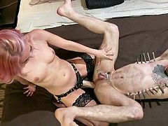 Corbin prefers severe and powerful women who know what they want, and are ready to compel their man to do what she wants. Aaliyah Love is such a woman and this is one of the reasons why right now, Corbin gets a huge strapon in his ass...