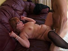Amateur lad will lick her delicious love tunnel, and then fuck her passioantely.