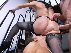 ffm threesome with anal and rough bdsm
