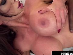 Black Cock Fantasy Fucking With Busty Nikki Benz!