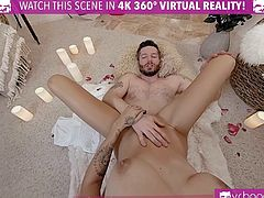 VRBangers Hot Ebony Fucked Hard on Valentines Day Girl VR