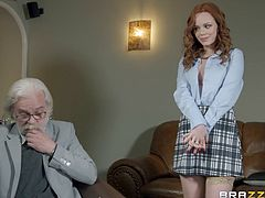 Ella Hughes is tired of her old husband, who is completely unable to satisfy all her sexual needs, so it is not surprising that she immediately paid attention to the new neighbor Danny D, and to his extremely huge dick... Must watch!