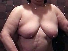 Asian BBW Granny Using Vibrator