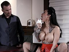 The busty babe with a huge ass, Lily Lane, intends to seduce the handsome bartender and to fuck with him right in the bar, while there are no visitors. The horny seductress knows what she is doing and after a few minutes, she sucks his fat and juicy dick with pleasure... Join and have fun!