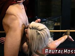 Rough crying anal slapping Big-breasted blonde beauty