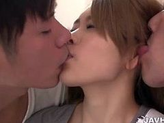 Dirty Japanese threesome with Reina Oomori