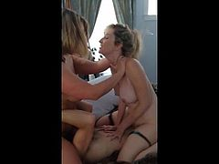 Mother and Friend - Sharing Cocks - Homemade Milf Whores