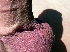 Outdoor hard cock smooth