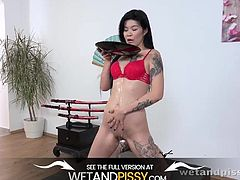 Asian Pissing - Firstimer Indulges In Hot Piss Play