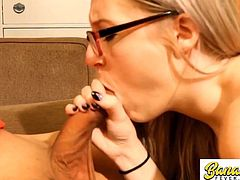 Nerdy Little Slut Face Whore Fucked by Asian Guy