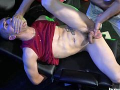 Young Ethan likes it when his daddy gets a little rough with him, while getting fucked. In a seedy setting, Ethan gives Andres a blowjob, with his naked asshole on display and ready to receive the big cock hes sucking on. It isnt long before the Latin bottom is taking that raw meat in several positions, which comes to an end when Andres breeds his young ass.