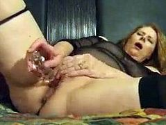 Red haired wife masturbates to orgasm