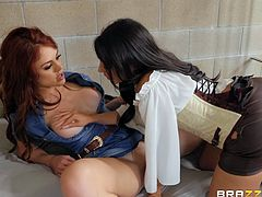 Even in jail, behind bars, these two hot lesbians know how to have fun and enjoy. Hot, mean lesbians love to fuck each other, they can't get enough pussy and love girl on girl action. Relax and enjoy impetuous sex action!