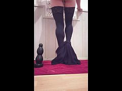 oceane extreme giant buttplug and huge dildo