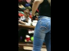 Big Beautiful Asses on Jeans Candid