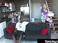 PAWG Milf Sara Jay Fills Her Sex Hole With A Black Cock!