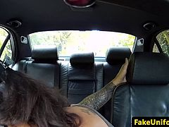 English ebony amateur cocksucking fake cop until spunked in mouth