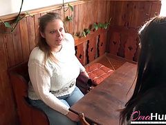 Older mature lady is seduced by teen girl and her horny friend Find this video on our network Oldnanny.com