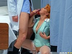 slutty doctor fucks with a nurse