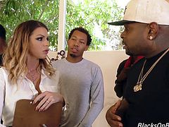 Brooklyn Chase - busty brunette in IR gang bang