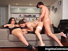 Cuban BBW Angelina Castro Has Threesome With Roberta Gemma!