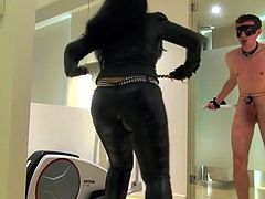 One of the slut is slave and the other one is the master and obviously they are having lots of fun . Enjoy this kinky video today in HD