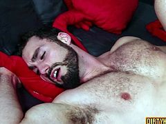 Enjoy yet another horny gay porn couple with two horny bearded and tattooed twinks fucking the living shit out of each other in HD video