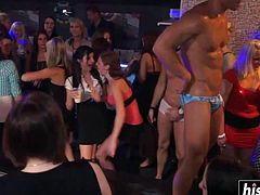 Nothing makes these babes hornier than being fucked hard at the club.